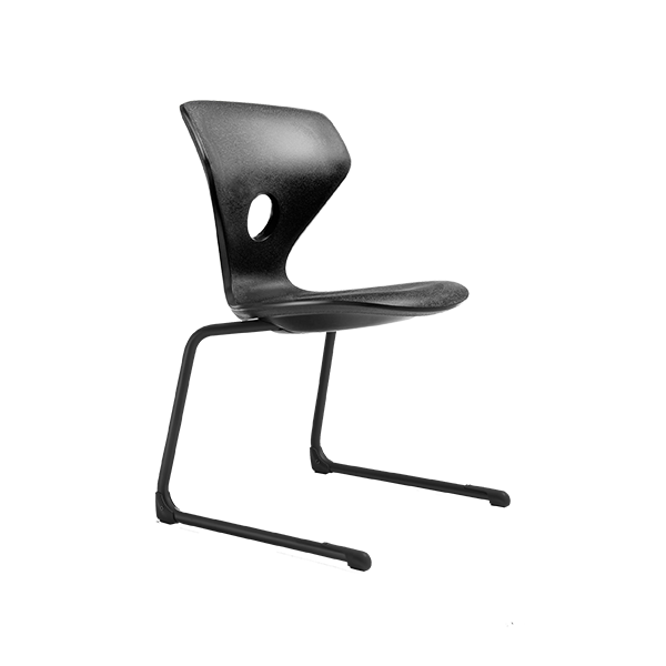 Leerlingstoel Pinna zwart | Yield Projecten B.V.